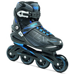 Roces Stripes Inline Skates, Black-Astro Blue, 256
