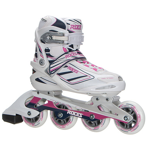 Roces Izi Womens Inline Skates, White-Blue-Pink, 600