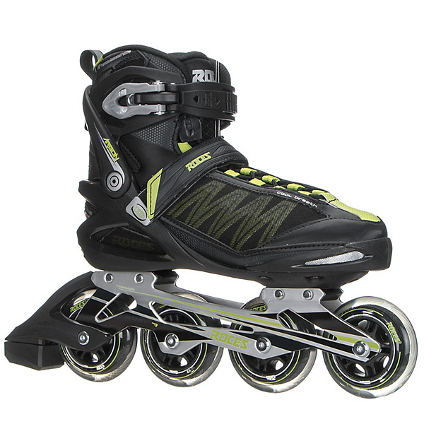 Roces Argon Inline Skates, Black-Acid Green, 600