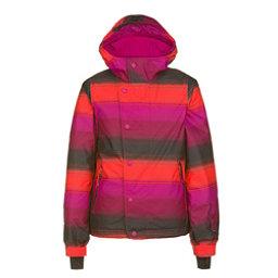O'Neill Carat Girls Snowboard Jacket, Pink Aop, 256