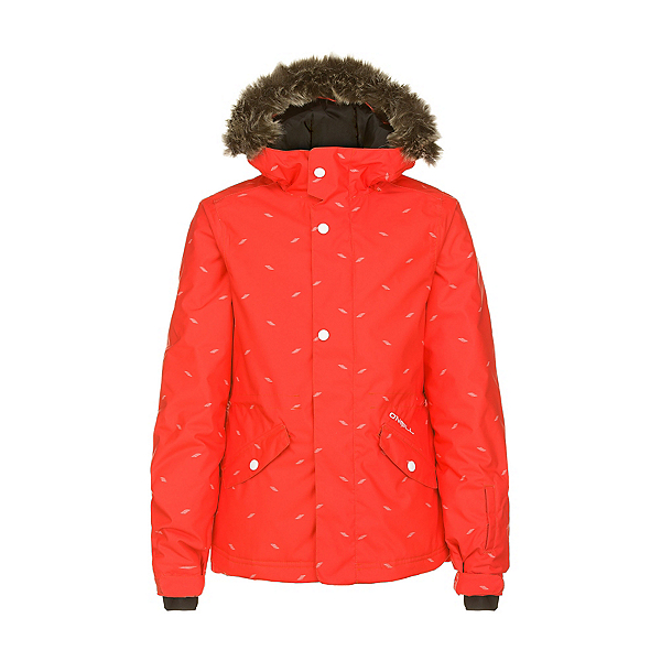 O'Neill Gemstone Girls Snowboard Jacket, Poppy Red, 600