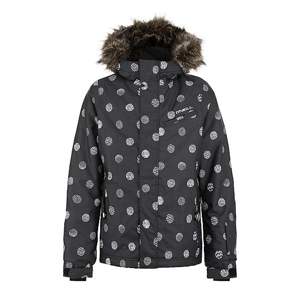 O'Neill Radiant Girls Snowboard Jacket, Black Aop, 600