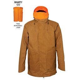 686 Parklan Smarty Duffel Mens Insulated Snowboard Jacket, Duck Pigment Scratch Denim, 256