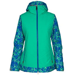 686 Authentic Rhythm Womens Insulated Snowboard Jacket, Blue Floral Camo, 256