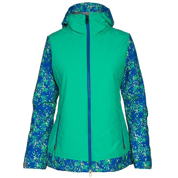 686 Authentic Rhythm Womens Insulated Snowboard Jacket, Blue Floral Camo, 600
