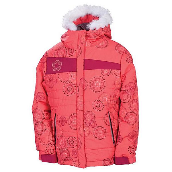 686 Mannual Gidget Puffy Girls Snowboard Jacket, Coral, 600