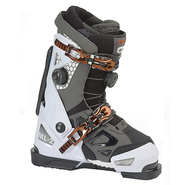 Apex ML-2 Womens Ski Boots, White-Dark Grey, 600