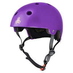 Triple 8 Brainsaver EPS Liner Mens Skate Helmet 2017, Purple Glossy, 256