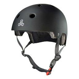 Triple 8 Brainsaver EPS Liner Mens Skate Helmet 2017, All Black Rubber, 256