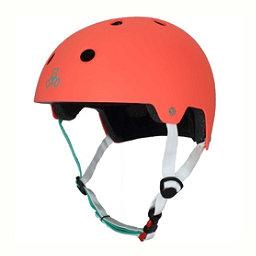 Triple 8 Brainsaver EPS Liner Mens Skate Helmet 2017, Neon Tangerine Rubber, 256
