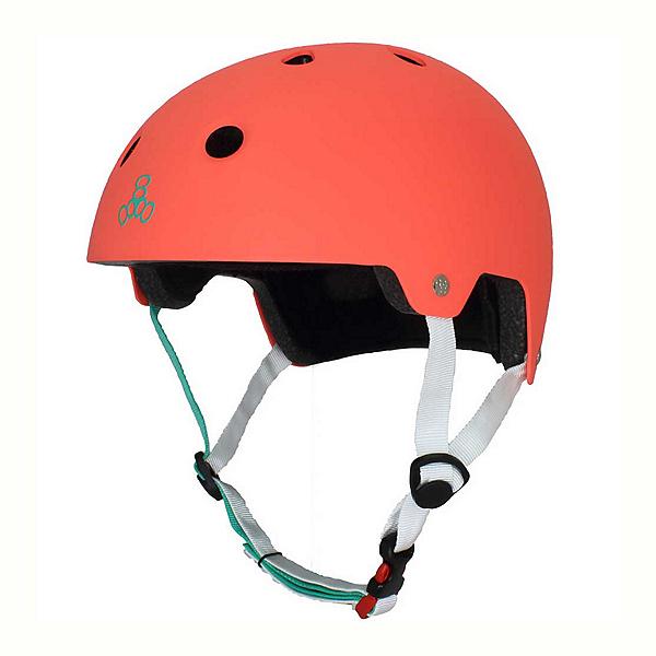 Triple 8 Brainsaver EPS Liner Mens Skate Helmet, Neon Tangerine Rubber, 600