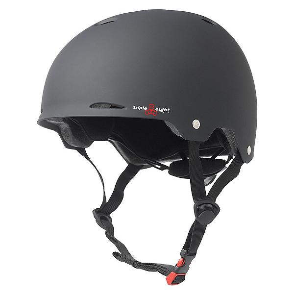 Triple 8 Gotham EPS Liner Mens Skate Helmet 2017, Black Rubber, 600
