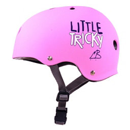 Triple 8 Little Tricky EPS Liner Youth Skate Helmet 2017, Pink Rubber, 256