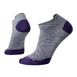SmartWool PHD Run Ultra Light Micro Womens Socks, Light Gray, 256
