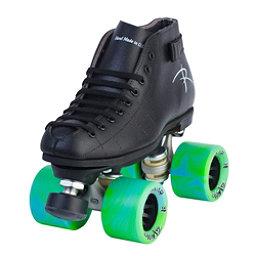 Riedell Cobalt Speed Roller Skates, Black, 256