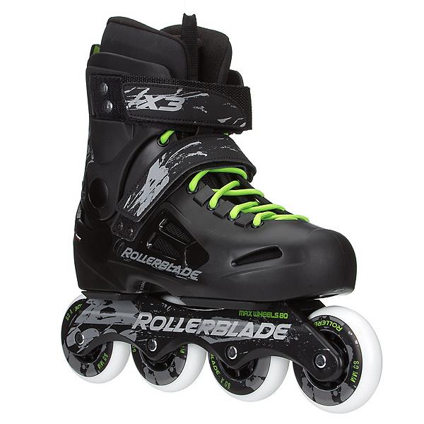 Rollerblade Fusion X3 Urban Inline Skates, Black, 600