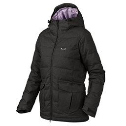 Oakley Sierra Down Womens Insulated Snowboard Jacket, Jet Black, 256