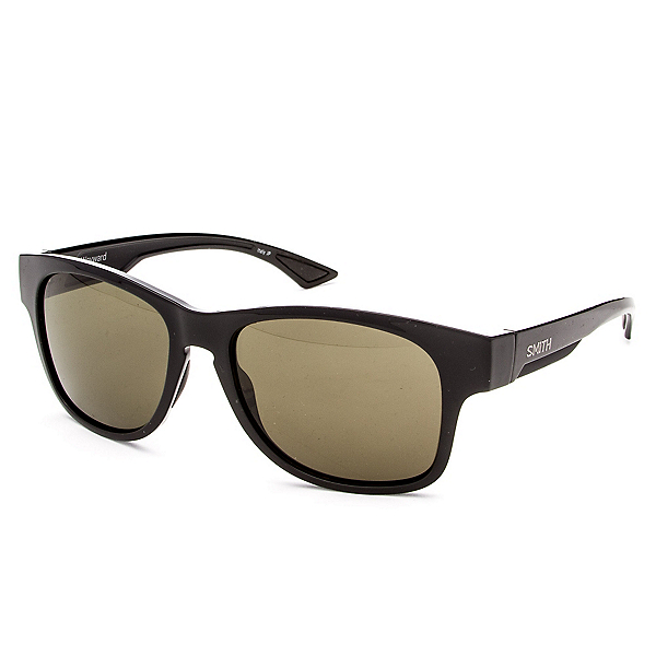Smith Wayward Chromapop Sunglasses, Black-Polar Gray Green Chromapop, 600