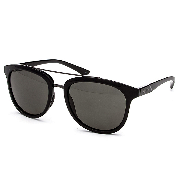 Smith Clayton Polar Sunglasses, Black-Polar Gray Green, 600