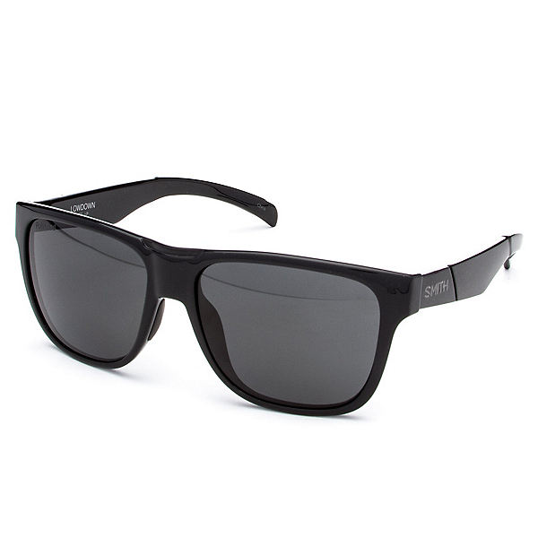 Smith Lowdown Polarized Sunglasses, Black-Polarized Gray, 600
