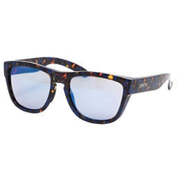 Smith Clark Sunglasses, Flecked Blue Tortoise-Blue Flash Mirror, 256