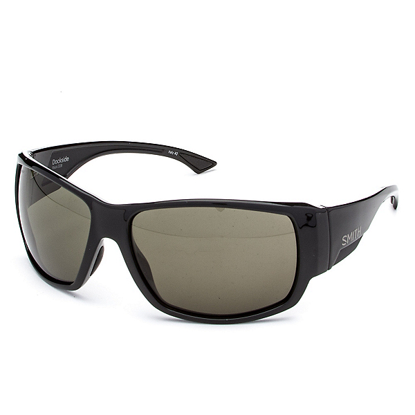 Smith Dockside ChromaPop Sunglasses, Black-Polar Gray Green ChromaPop, 600