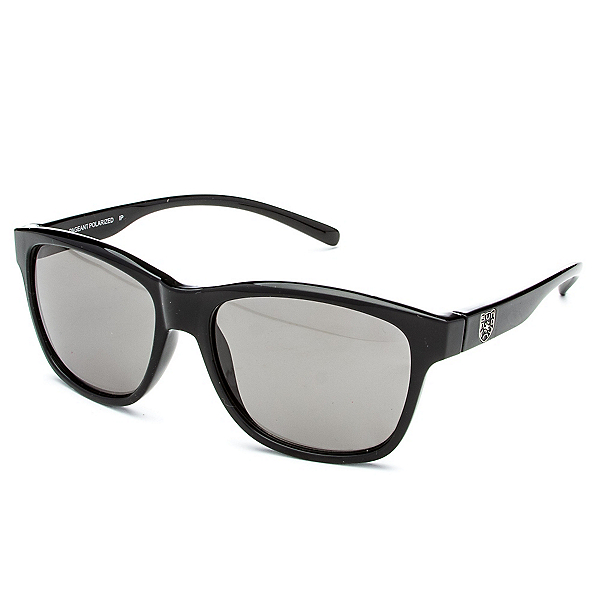 SunCloud Pageant Sunglasses, Black-Gray Polarized, 600