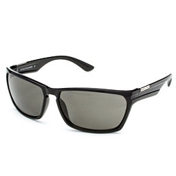 SunCloud Cutout Sunglasses, Black-Gray Polarized, 256