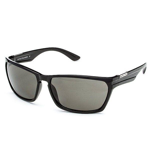 SunCloud Cutout Sunglasses, Black-Gray Polarized, 600