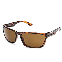 SunCloud Cutout Sunglasses, Tortoise-Brown Polarized, 256