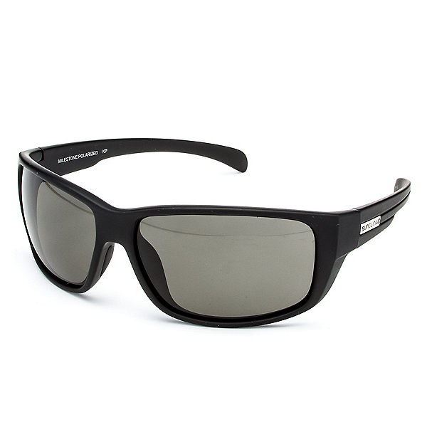 SunCloud Milestone Sunglasses, Matte Black-Gray Polarized, 600