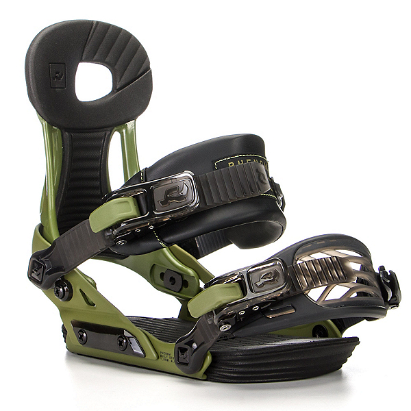 Ride Phenom Kids Snowboard Bindings, Green, 600