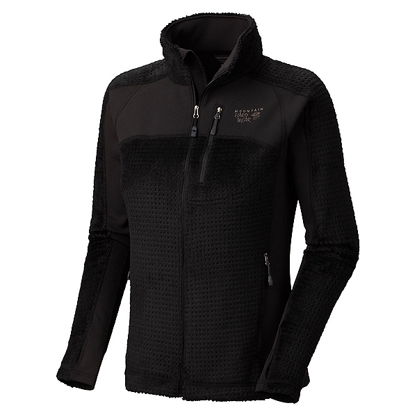 Mountain Hardwear Hoodless Monkey Woman Grid Womens Jacket, Black, 600