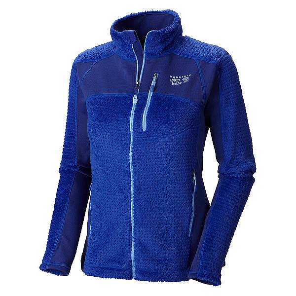Mountain Hardwear Hoodless Monkey Woman Grid Womens Jacket, Nectar Blue, 600