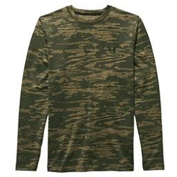 Under Armour CG Infrared Evo Crew Mens Long Underwear Top, Greenhead-Deer Hide-Black, 256