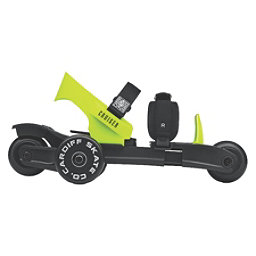 Cardiff Cruiser Lime Kids Inline Skates, Black-Lime, 256