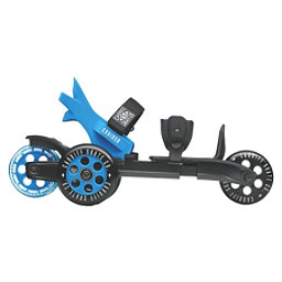Cardiff Cruiser Large Inline Skates, Black-Blue, 256