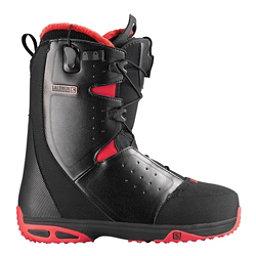 Salomon Moxie Womens Snowboard Boots, Black-Bright Red-Black, 256