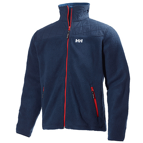 Helly Hansen October Pile Mens Jacket, Evening Blue, 600