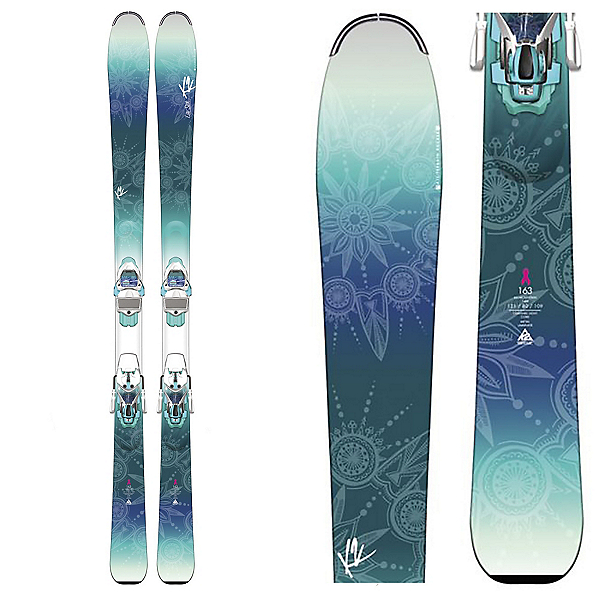 K2 Luv Sick 80Ti Womens Skis with Marker ERC 11 TC Bindings, , 600