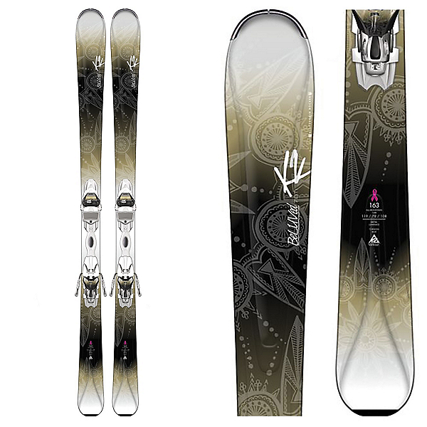 K2 Beluved 78Ti Womens Skis with Marker ER3 10 Bindings, , 600