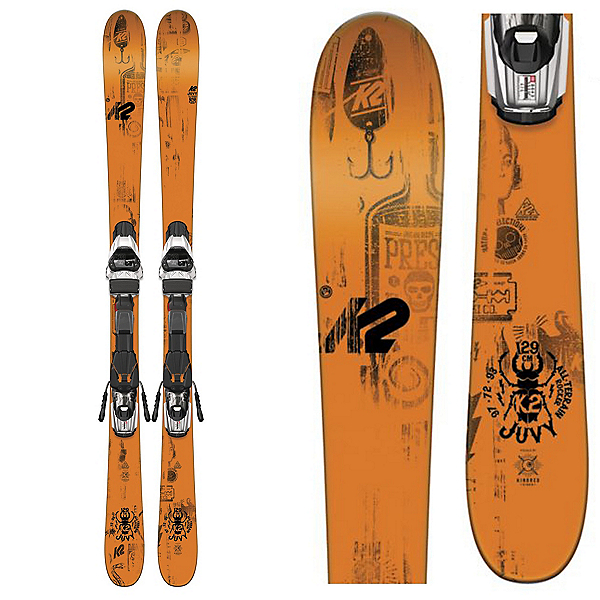 K2 Juvy Kids Skis with Marker Fastrack2 7.0 Bindings, , 600