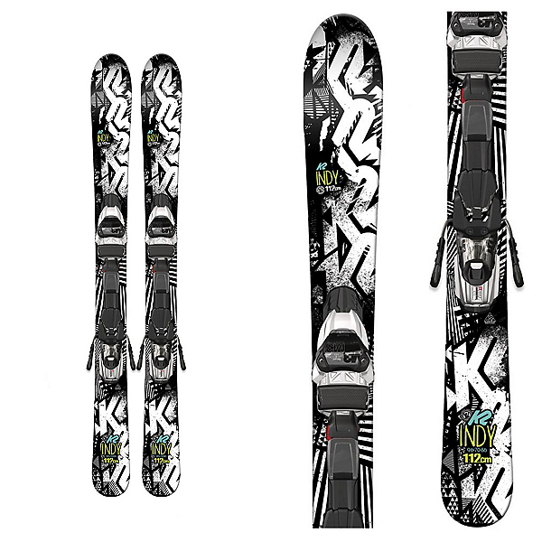 K2 Indy Kids Skis with Marker Fastrak2 4.5 Bindings, , 600