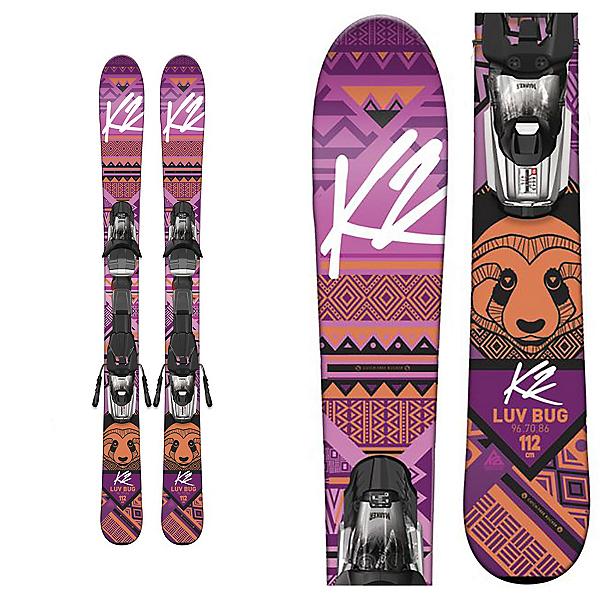 K2 Luv Bug Kids Skis with Marker Fastrak2 4.5 Bindings, , 600