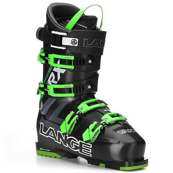 Lange RX 130 Ski Boots, Black-Green, 600