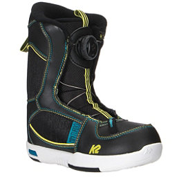 K2 Mini Turbo Boa Kids Snowboard Boots, Black, 256