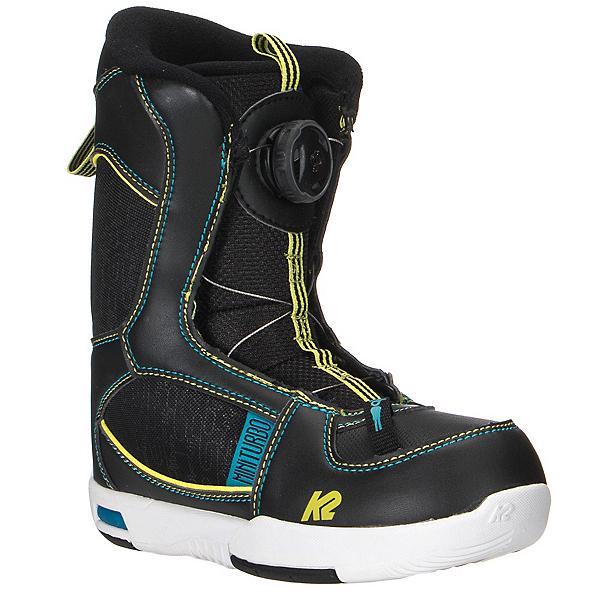 K2 Mini Turbo Boa Kids Snowboard Boots, Black, 600