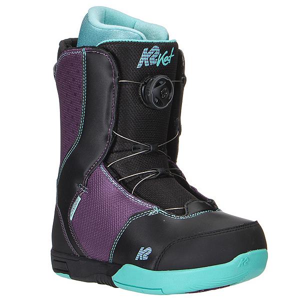 K2 Kat Boa Girls Snowboard Boots, Black, 600