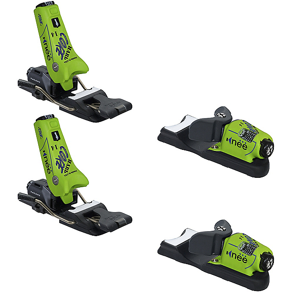 Knee Binding Hardcore Ski Bindings, Neon Green, 600