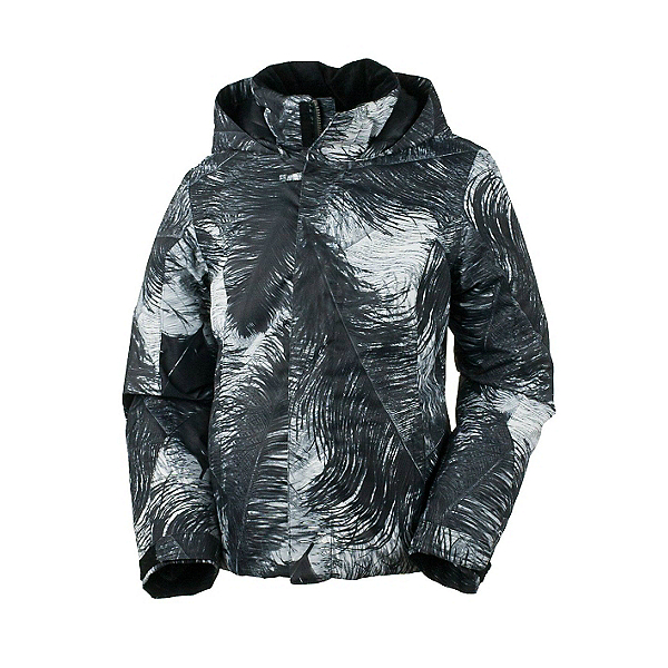 Obermeyer Jade Teen Girls Ski Jacket, Feather Print, 600
